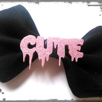 Rockabilly/Psychobilly Hair Bow- Creepy Cute