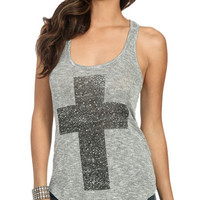 Lurex Hachi Cross Tank | Shop Tops at Wet Seal