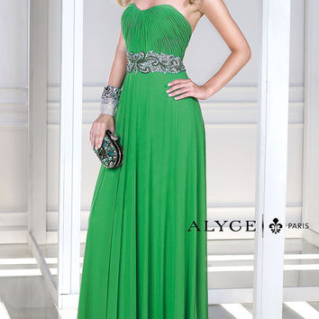 Long Strapless Sweetheart Dress by Alyce