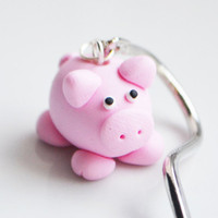 Pig Bookmark, Fimo, Polymer Clay