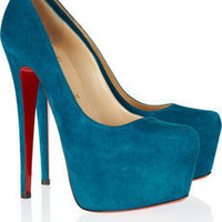 Christian Louboutin|Daffodile 160 suede platform pumps|NET-A-PORTER.COM