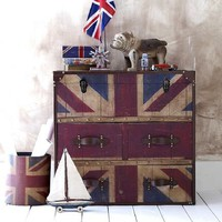 Vintage style Union Jack chest save 100