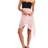 Chiffon Hi-Low Tube Dress: Charlotte Russe