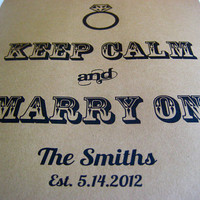 Rustic Wedding Sign KEEP CALM and Marry On by PurplePeonyCouture
