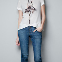WATER-COLOUR FIGURE T-SHIRT - T-shirts - Woman - ZARA United States