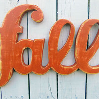 Wood Sign - Wood Words Fall Wall Decor