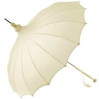 UK 49.99 Brolliesgalore Ivory Giselle Pagoda Bridal Umbrella by Chrysalin