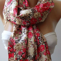 Romantic Scarf Georgeus Scarf Silk Satin Elegance Scarf   Soft and Light
