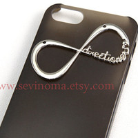 Iphone 5 Case, One Direction iphone case, Infinity iphone case, Harry Styles, grey color clear hard case