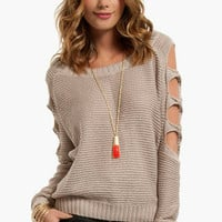 Shoots and Ladder Sleeve Sweater $58