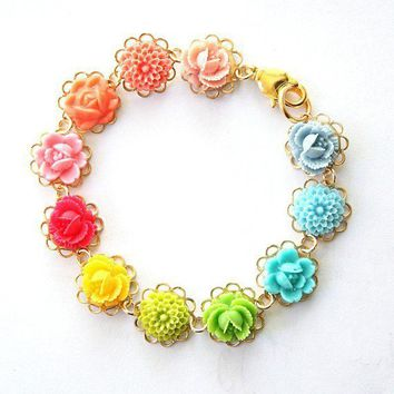 Color Wheel Bracelet by tamar on Etsy