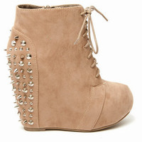 Camilla Studded Wedge Booties $84