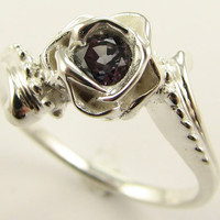 Love's Long Lost Rose Blackberry Sapphire by wexfordjewelers