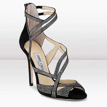 Jimmy Choo Crystal Suede Sandal