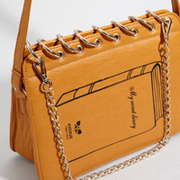 Tan Book Purse | My Secret Diary Handbag | fredflare.com