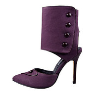2010 Manolo Blahnik onsale suede pumps ankle strapped purple - $190.00