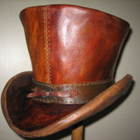 Steampunk Goth Victorian Deluxe Custom Leather Top Hat &amp;#36;239.00  Tokyo Flash picture on VisualizeUs