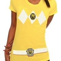 Mighty Morphin Power Rangers Yellow Ranger Costume Girls T-Shirt - 174569