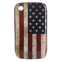 [EUR € 2.69]  - de protection de la star-spangled banner cas modèle pour blackberry 8520, 8530, 9300, 9330