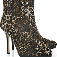 Jimmy Choo Alanis calf hair ankle boots - &amp;#36;285.00