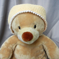 Crochet Kids Beanie Cotton Yellow Kids Hat