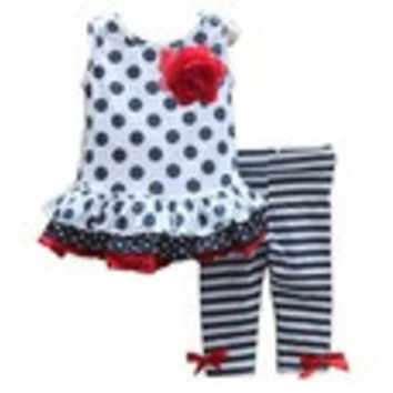 2014 summer baby girl casual 2pcs clothing set toddler suit flower top within striped pants - Default