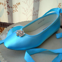 Blue Wedding Shoes -- Flats  -- Pick your Blue