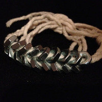 Shop-Savage — Braided Hex Nut Double Wrap Bracelet