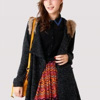 Faux Fur Drape Cardigan Coat - New Arrivals - Retro, Indie and Unique Fashion