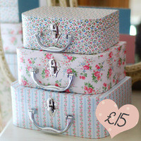 Ditsy Suitcases  Dear Blackbird Homewares