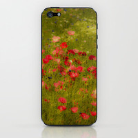 Deep Poppies iPhone & iPod Skin by John Dunbar | Society6
