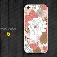 NEW iphone 5 case iphone 5 cover colorized red white illustrator flower graphic design printing