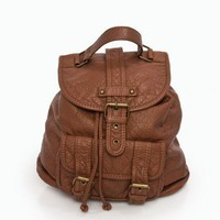 Mini Zino Backpack in Brown - ShopSosie.com