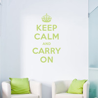 "Keep Calm and Carry On Decal - 28"" x 48"" - Vinyl Wall Art Decal Sticker"