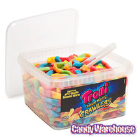 Trolli Brite Crawlers Sour Gummy Worms: 63.5-Ounce Tub | CandyWarehouse.com Online Candy Store