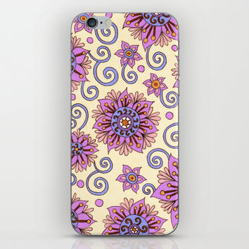 Passion Flowers iPhone & iPod Skin by PeriwinklePeacoat