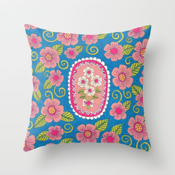 Bouquet of Flowers Throw Pillow by PeriwinklePeacoat
