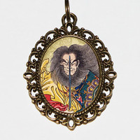 Samurai Necklace Oval Pendant