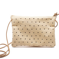 Convertible Dot Clutch - One Size / Natural