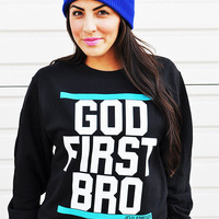 JCLU Forever Christian t-shirts  GODFIRSTSWEATER