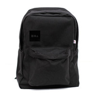 Backpack - Bauhaus Block - Classic School Style Black Backpack