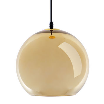 Glass Pendant Lamp in Gold