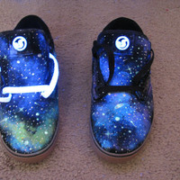 Galaxy Shoes // DVS // Glow in the Dark and Blacklight (UV Reactive)