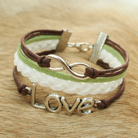 Love infinity bracelet - love bracelet with infinity symbol for girls, boys and BFF