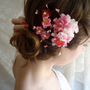 hair flower pink hair clip DEVOTEDLY floral by thehoneycomb