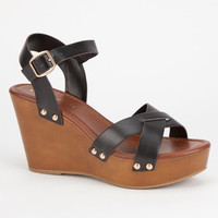 City Classified Klaris Womens Wedges Black  In Sizes