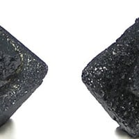 Brookite Black Crystals Pair For Earrings or Thumbnail Rare Mineral Specimen Magnet Cove Metallic Titanium Stone Wear it or Display it