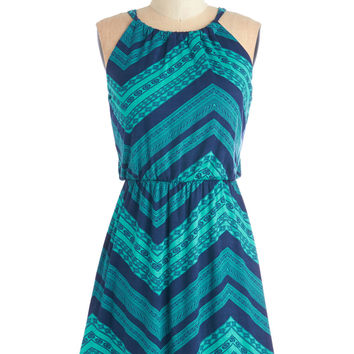 ModCloth Mid-length Sleeveless A-line From Cheer On Out Dress