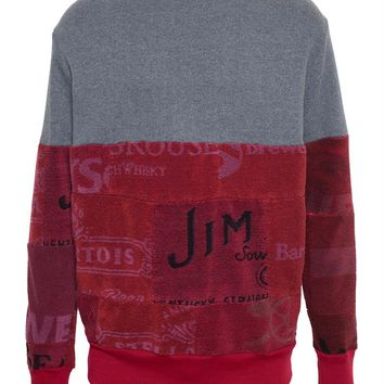 Cotton Sweatshirt with Beer Mat Towelling - MARTINE ROSE