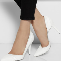 McQ Alexander McQueen Lex leather pumps – 60% at THE OUTNET.COM